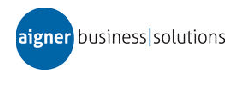Logo von aigner business / solutions