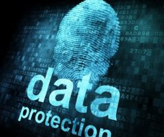 Fingerprint and data protection on digital screen